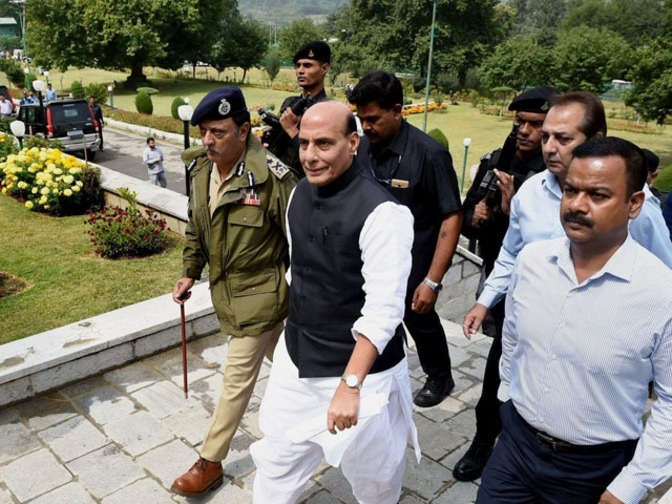 Green shoots of peace visible in Kashmir: Rajnath