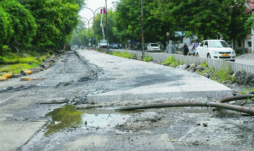Cement road construction misses deadline
