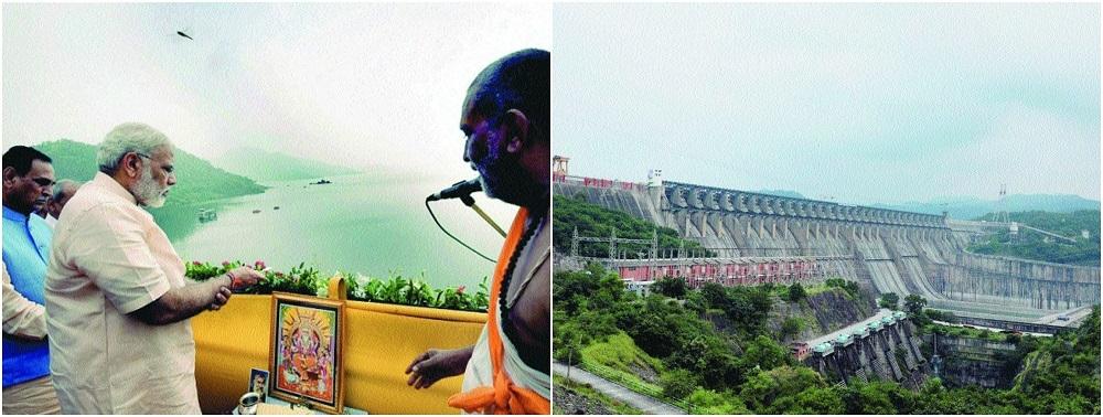 Modi inaugurates Narmada Dam after 56 yrs of hurdles