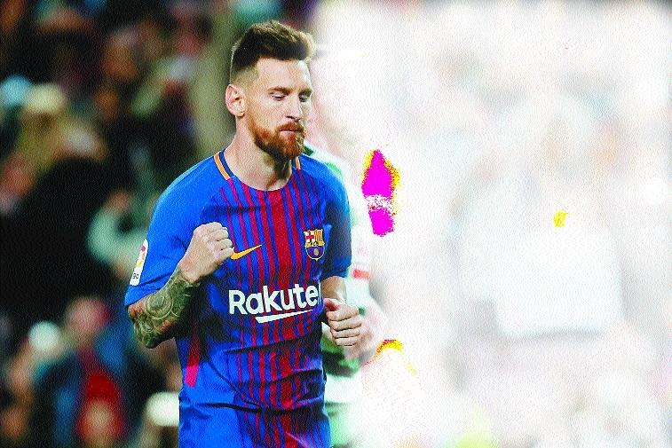 Messi hits four