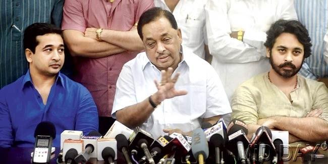Narayan Rane, son Nilesh quit Congress