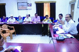 Collector Agrawal reviews Department of Education