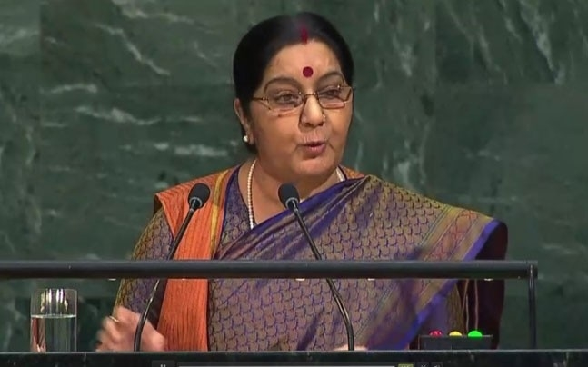 We made IIT and you LeT: Sushma blasts Pak in UN