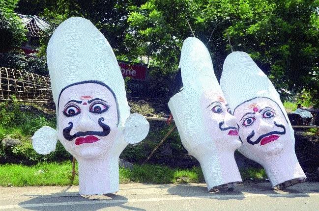 People throng city to buy Ravana effigies
