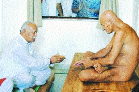 Dr Mohan Bhagwat meets Vidyasagarji Maharaj