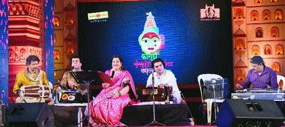 Anuradha Paudwal mesmerises at Koradi Festival