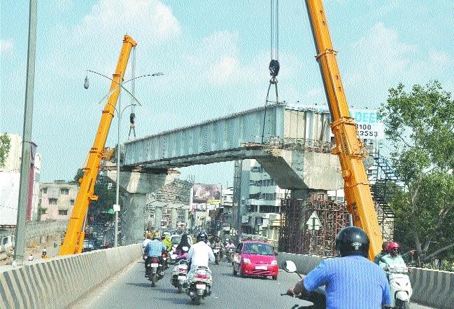 Steel girders launched across Ramjhula