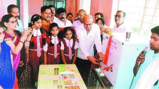 Chatra Mitra Sanstha donates water cooler to Govt School