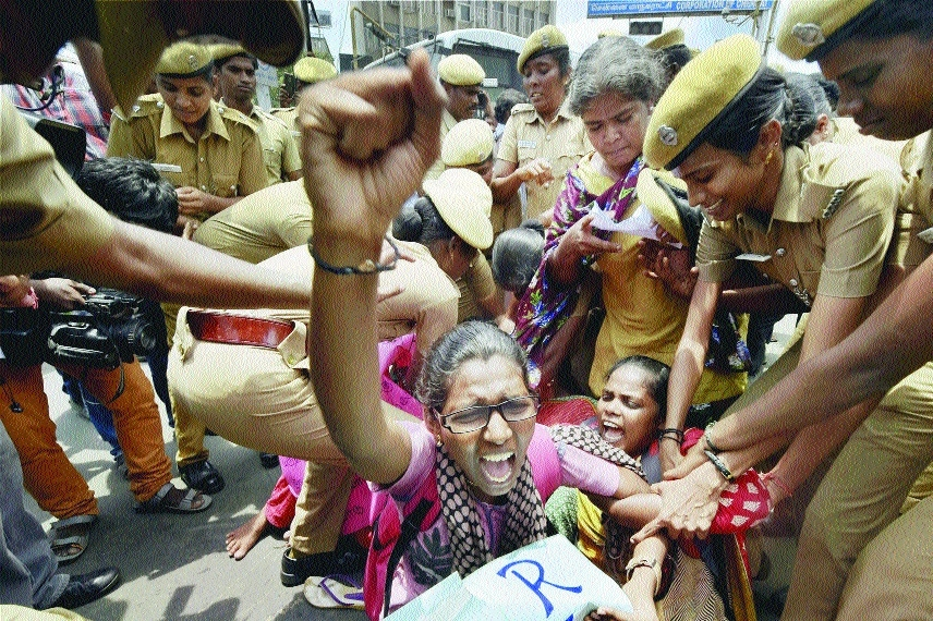 Protest over girl's suicide in TN