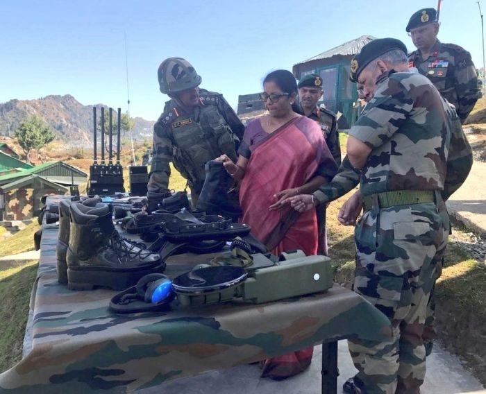 Sitharaman visits LoC in Kashmir