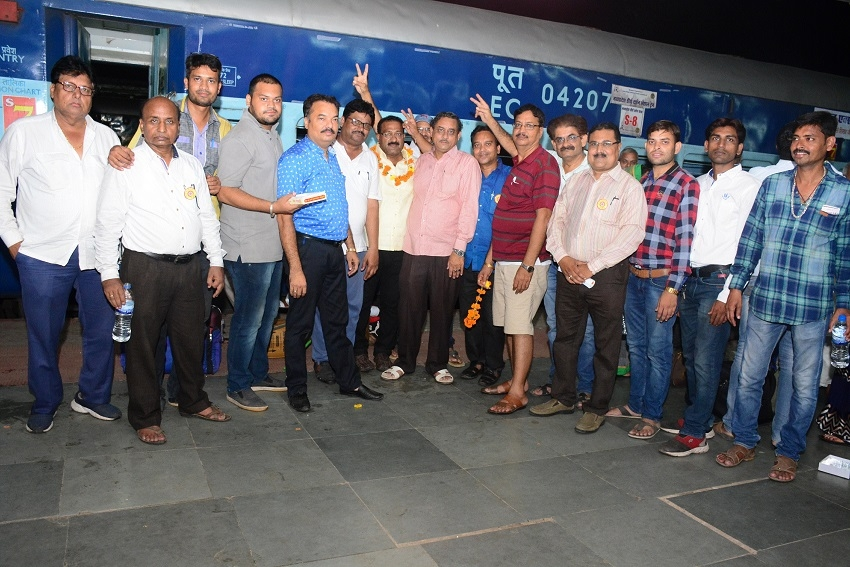 Pilgrims of Teerthsagar welcomed