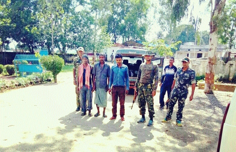 Three fake Naxals arrested at village Kurdih