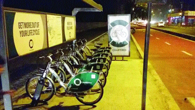 Now, smart bike stands inside colonies