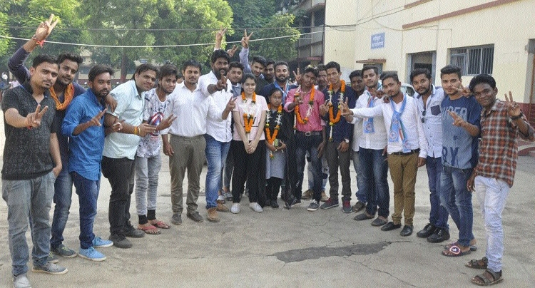 NSUI captures all 4 posts of students union