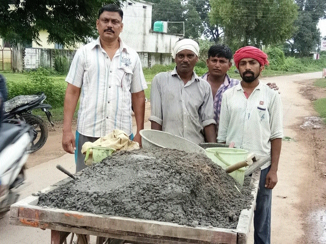 Residents start repair of road by themselves