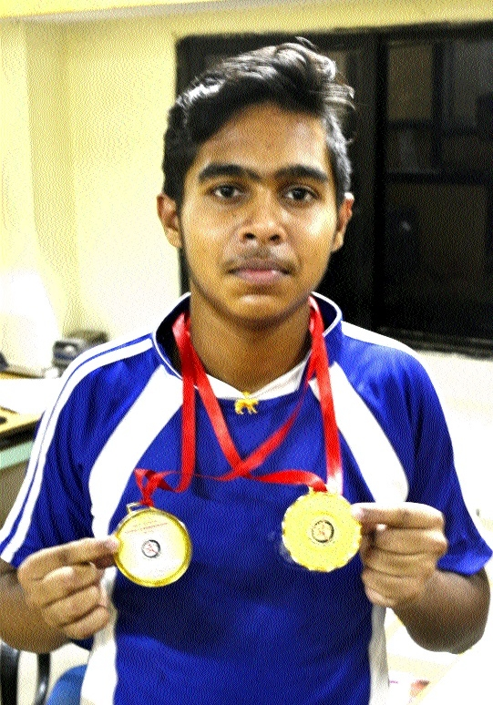 Aditya shines with 3 gold in State-level Wushu