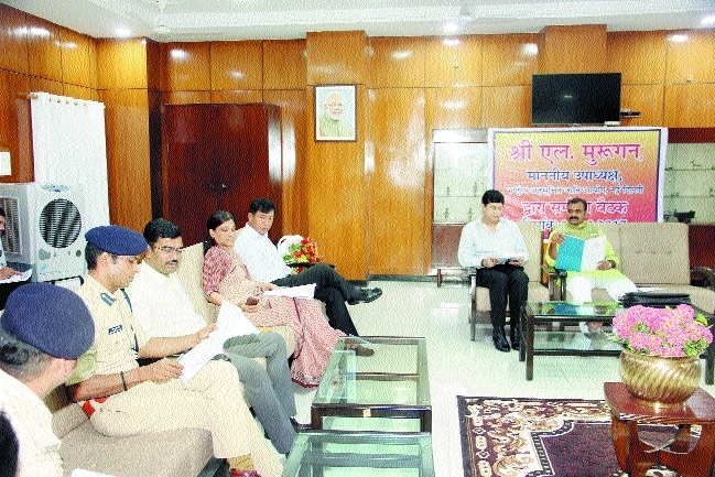 Provide relief to scheduled caste people, says NCSC VC L Murugan