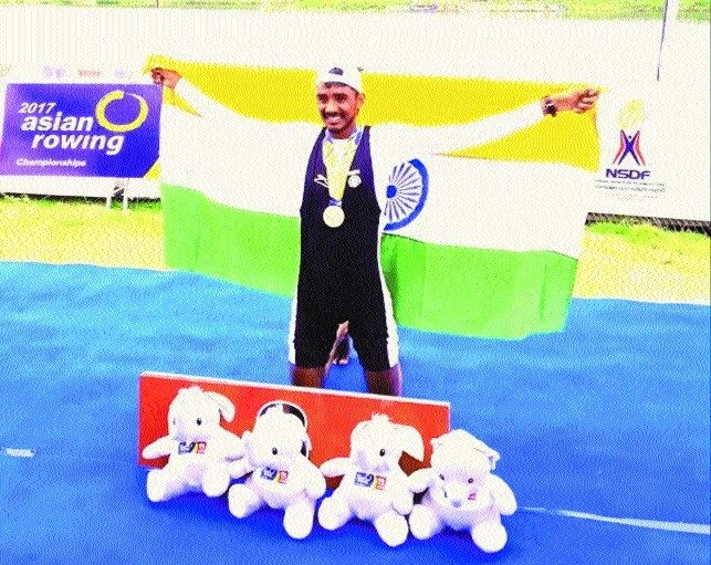 Lucky wins bronze at Sr Asian Rowing Championship for first time