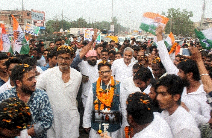Punia accorded warm welcome on maiden visit to Bhilai