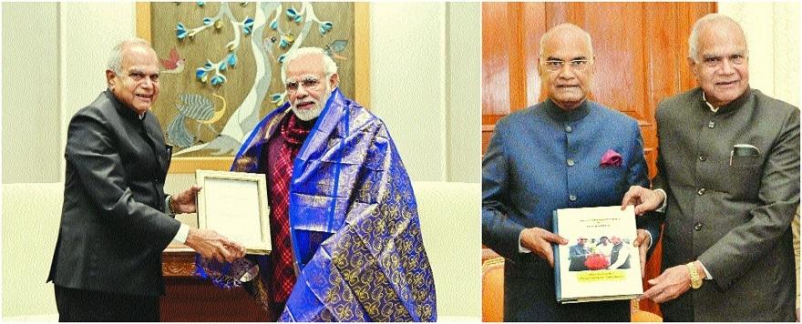 Purohit meets Modi, Kovind in Delhi