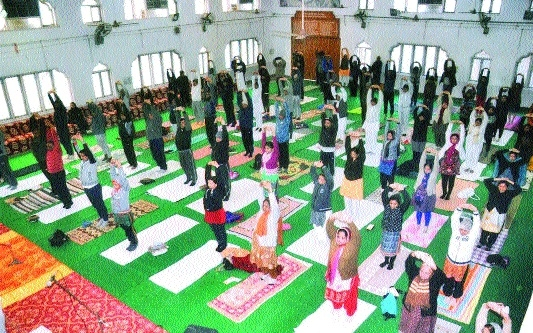 Free yoga camp held