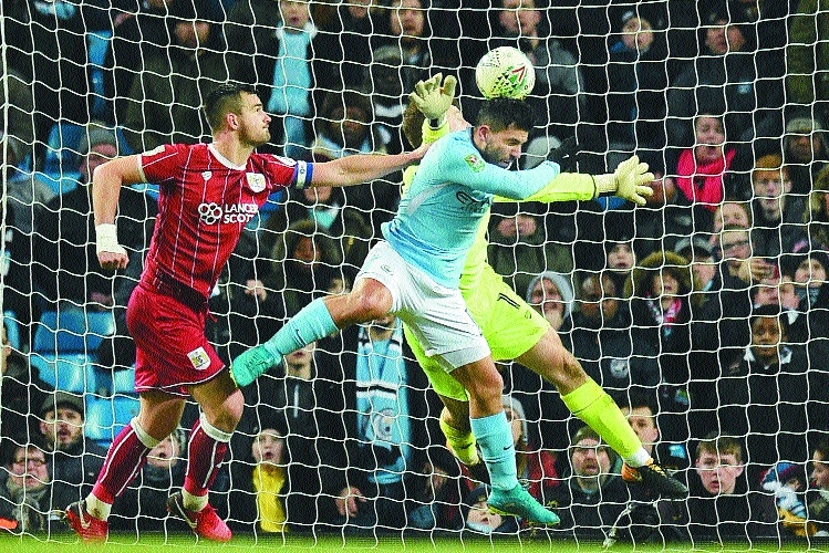 Man City nip Bristol in EFL Cup semis