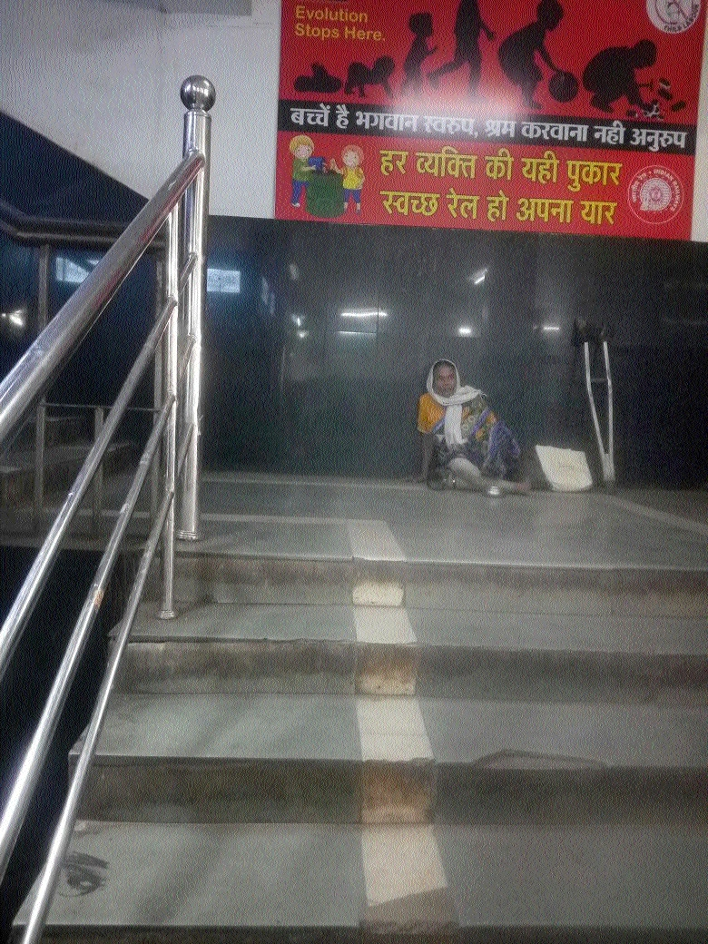 Beggars are back at Railway station soon after inspection by chief