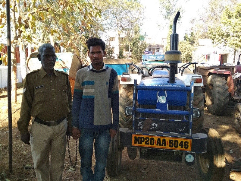 One of two accused nabbed for stealing tractor, transporting illegal sand stock