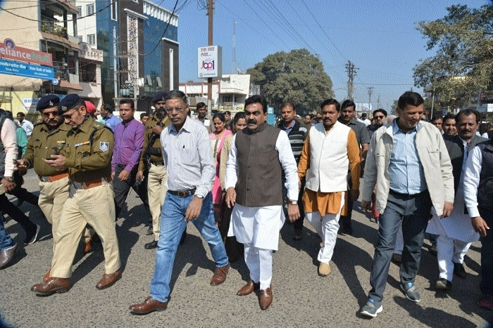 Rakesh Singh inspects proposed site for State's longest fly over