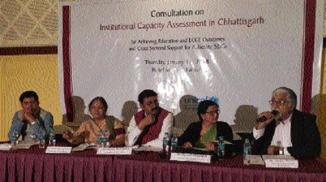 Workshop on Institutional Capacity Assessment in Chhattisgarh held