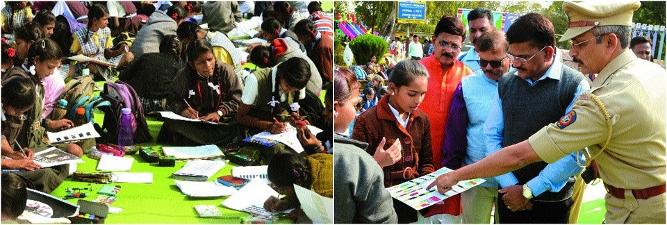 1,600 students participate in painting contest on Road Safety