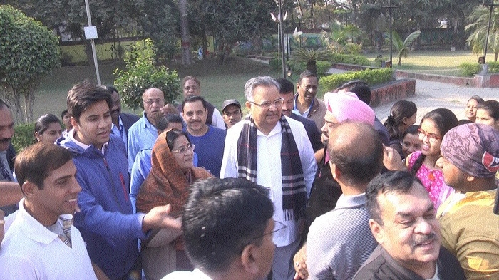 When CM & family takes a morning walk with public!