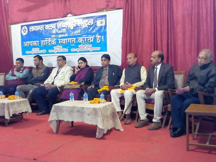 Medical experts felicitated in Rashtriya Seva Yojana Unit, Lions Club health camp