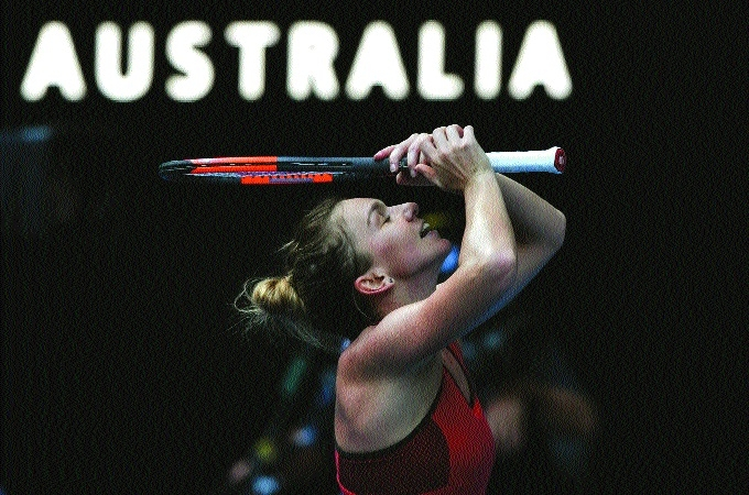 Halep rides on aggression