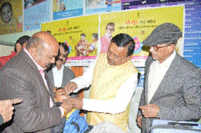 Minister of State Sharad Jain inaugurates Pulse Polio drive