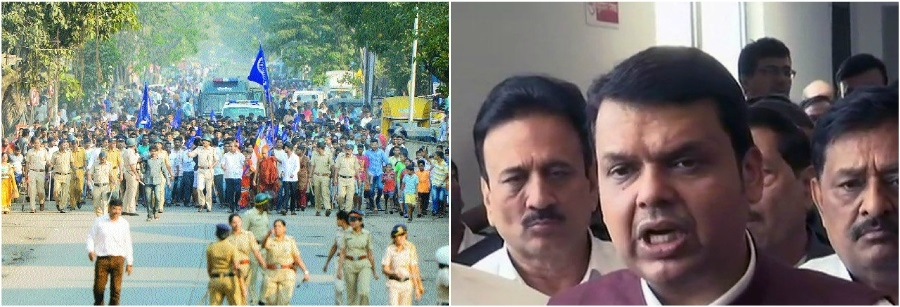 CM announces judicial probe into Bhima-Koregaon violence