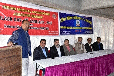 IMA, Jabalpur observes 'Black Day'