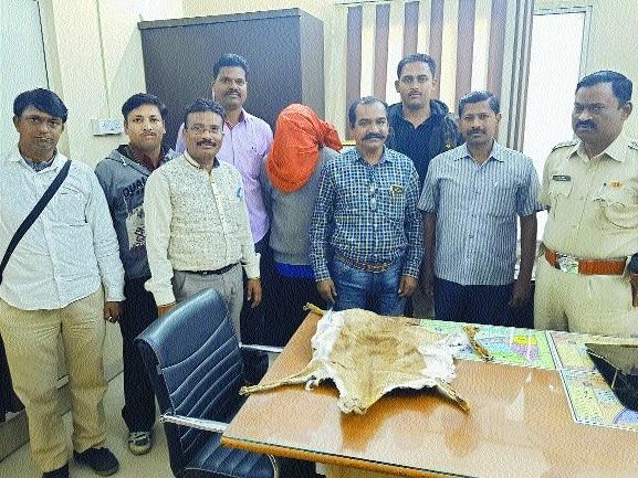 Jaripatka police nab youth, seize deer skin