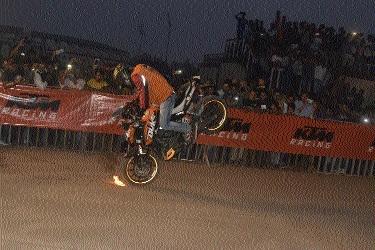 KTM Stunt show held