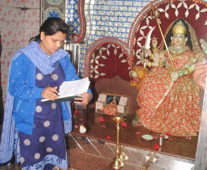 Durga Temple broken in, valuables stolen