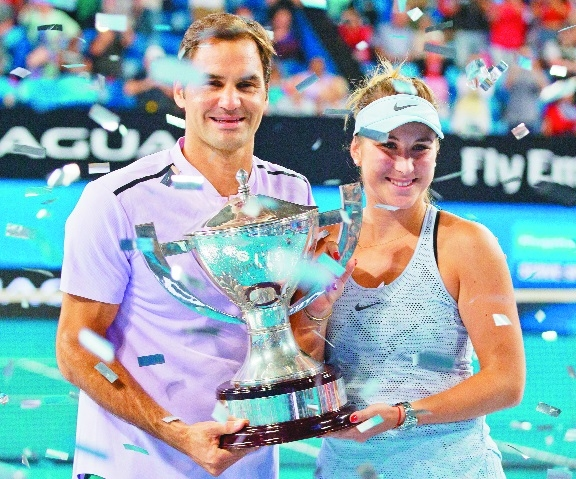 Federer remains unbeaten at Hopman Cup