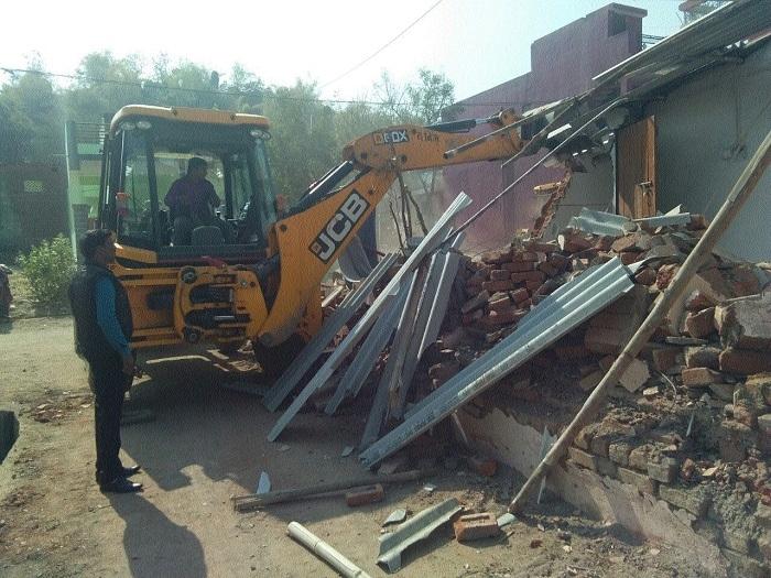 Anti-encroachment drive in Gorakhpur, Shakti Nagar