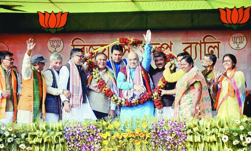 Many Tripura ministers are corrupt, will be jailed if BJP comes to power: Shah