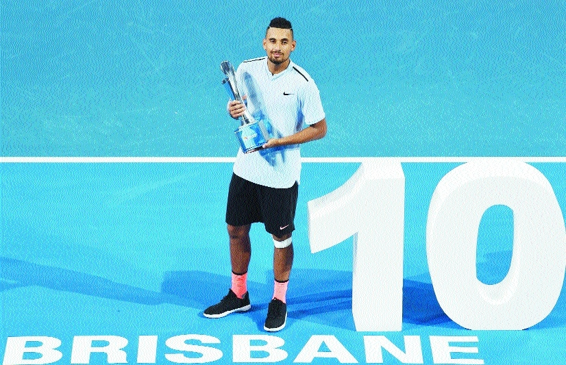 Kyrgios wins Brisbane title in Australian Open boost