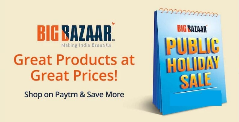 'Public Holiday Sale' at Big Bazaar