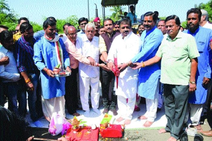 Ground-breaking ceremony of 3 lanes of JK Road held
