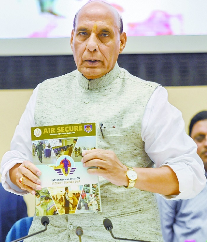 Terrorists pushing limits to hit Aviation Sector: Rajnath