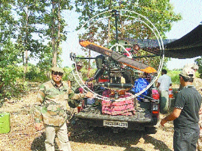 Power paraglider, dog squad join T1 tigress searching operation