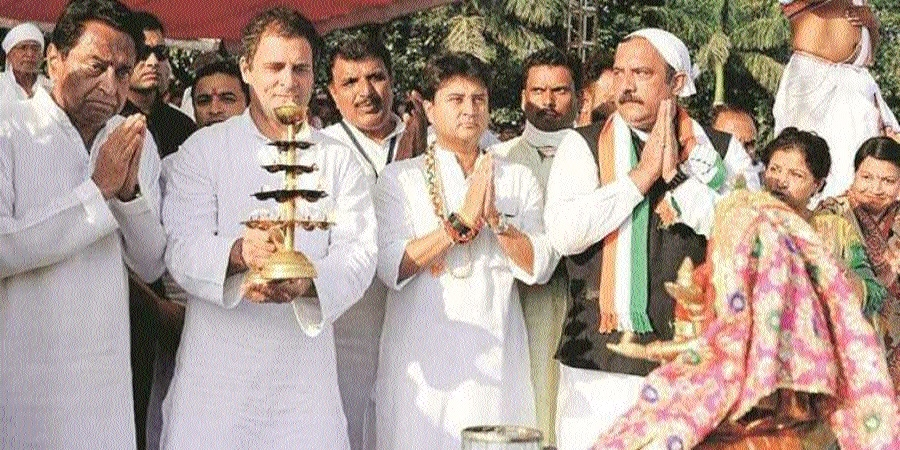 Rahul Gandhi's temple-run continues in Madhya Pradesh