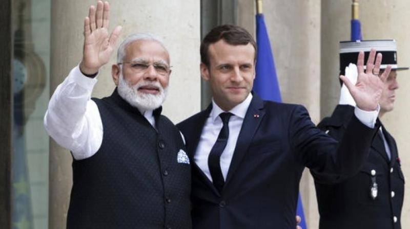 Modi, Macron to receive UN Award tomorrow